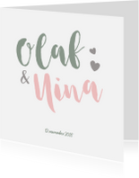 Geboortekaartjes - Lief geboortekaartje tweeling