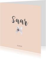 Geboortekaartjes - Lief geboortekaartje voor een meisje met strikje