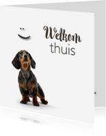 Welkom thuis kaarten - lief hondje-isf