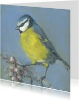 Kunstkaarten - Lief pimpelmeesje schilderij