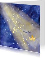 Rouwkaarten - lief rouwkaartje sterren in licht vogel