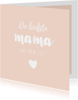 Lief zalmroze kaartje voor moederdag