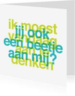 Liefde kaarten - Liefde Aan je Denken