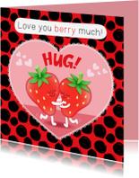 Liefde kaarten - Liefde Aardbei - TW