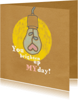 Liefde kaarten - Liefde -Brighten up my day - MW