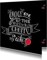 Liefde kaarten - Liefde - cherry black