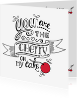 Liefde kaarten - Liefde - cherry white