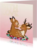 Liefde kaarten - Liefde hertjes love - TJ