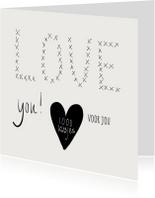 Liefde kaarten - Liefde kaart 1000 kusjes