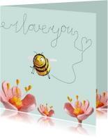 Liefde kaarten - Liefde kaart bijtje