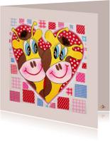 Liefde kaarten - Liefde kaart GiraffenHart PA