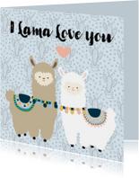 Liefde kaarten - Liefde kaart Lama love