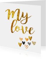 Liefde kaarten - Liefde kaart my love