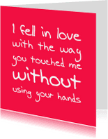 Liefde kaarten - Liefde kaart you touched me