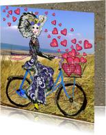 Liefde kaarten - Liefde kaart Zeeuws meisje hart
