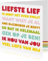 Liefde kaarten - Liefde Letters Liefste