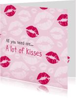 Liefde kaarten - Liefde lippen 3