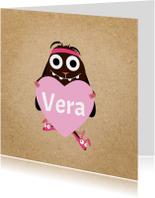Liefde kaarten - Liefde Veerie met hart!