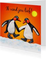 Liefde kaarten - Liefde, verliefde pinguïns - AZ