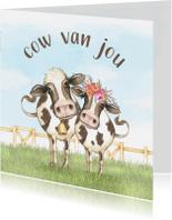 Liefde kaarten - Liefdekaart cow van jou