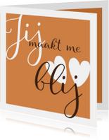 Liefde kaarten - Liefdekaart jij maakt me blij
