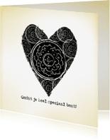 Liefde kaarten - Liefdekaart Vintage Heart