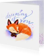 Liefdeskaart dreaming of you vos