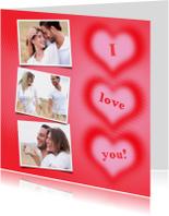Liefdeskaart I love you! - BK