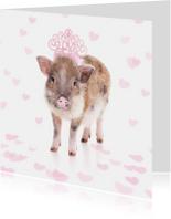 Liefde kaarten - Liefdeskaart - Love biggetje
