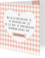 Liefde kaarten - Liefdeskaart met spreuk 'wij