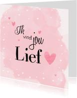 Liefde kaarten - Liefdeskaart waterverf lief