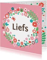Zomaar kaarten - Liefs met bloemen