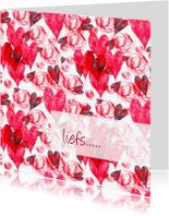 Liefde kaarten - Liefs met rose harten