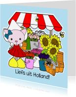 Vakantiekaarten - Liefs uit Holland bloemenstal
