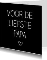 Vaderdag kaarten - liefste papa, handschrift