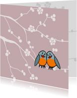 Liefde kaarten - liefste vogeltjes