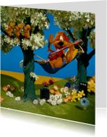 Felicitatiekaarten - Loeki de Leeuw speelt gitaar