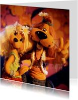 Felicitatiekaarten - Loeki en Roos Love and Peace