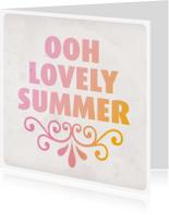 Zomaar kaarten - love summer zomer kaartje