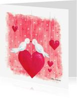 Valentijnskaarten - Lovebirds _Illu-Straver