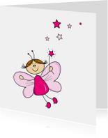Verjaardagskaarten - Meisje elfje