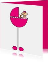 Felicitatiekaarten - Meisje in wieg