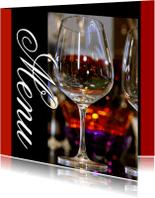 Menukaarten - Menukaart 5 - Wijnglazen