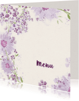 Menukaarten - Menukaart viooltjes