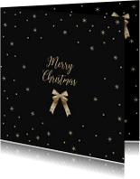 Kerstkaarten - Merry Christmas strik