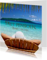 Felicitatiekaarten - Met pensioen op het strand