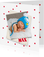 Geboortekaartjes - Met rode ballen'neusjes'-isf