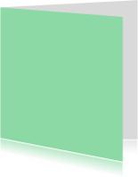 Blanco kaarten - Mint dubbel vierkant
