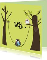 Samenwonen kaarten - Mo Card uiltjes in boom II