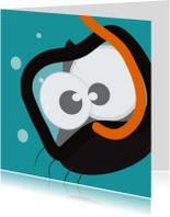 Geslaagd kaarten - Mo Card - zwemdiplomakaart gefeliciteerd - duikbril